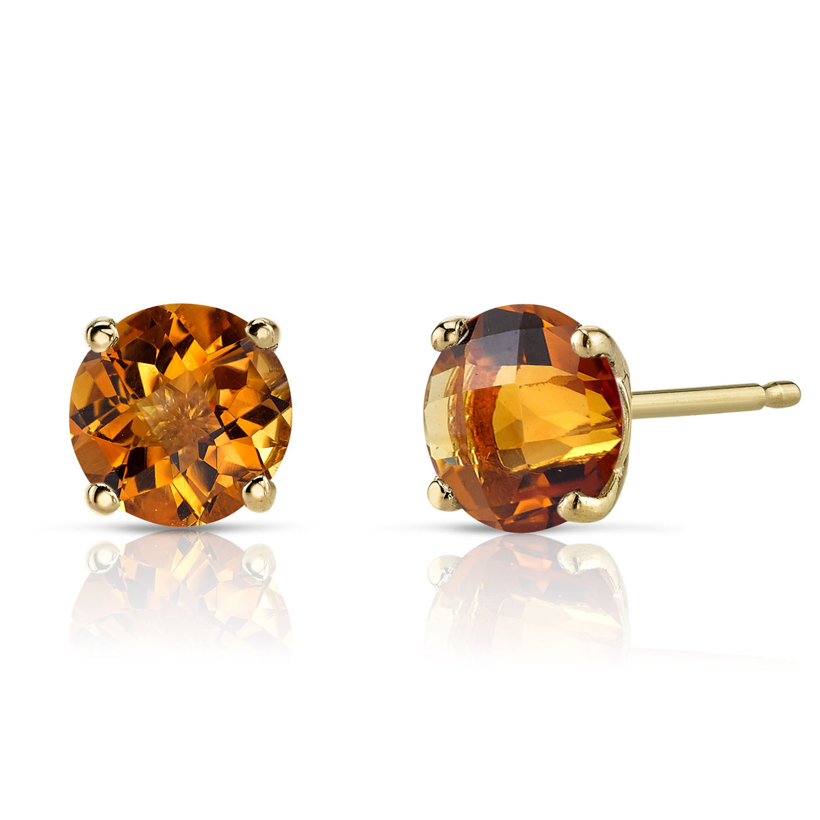 9fa2829f07407 Citrine Stud Earrings in 9ct Gold