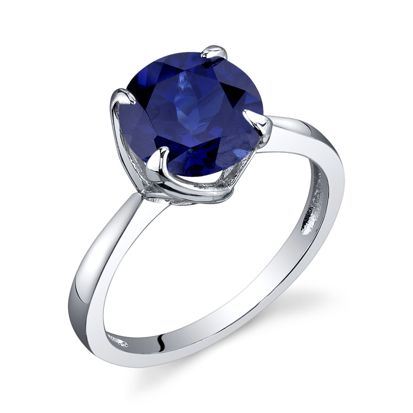 Sappihre Engagement Ring in Sterling Silver